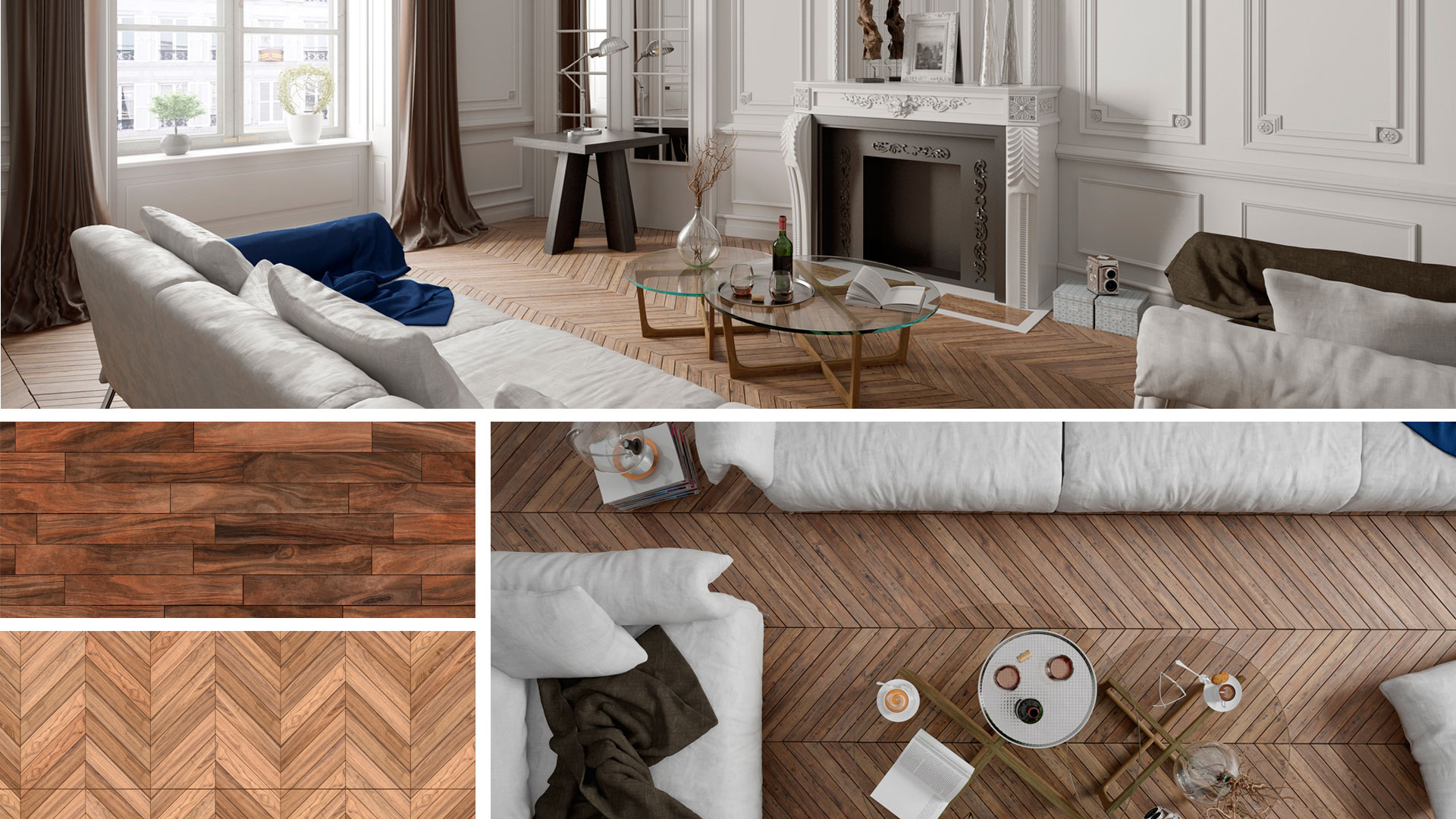 pavimento e pareti in stile parigino