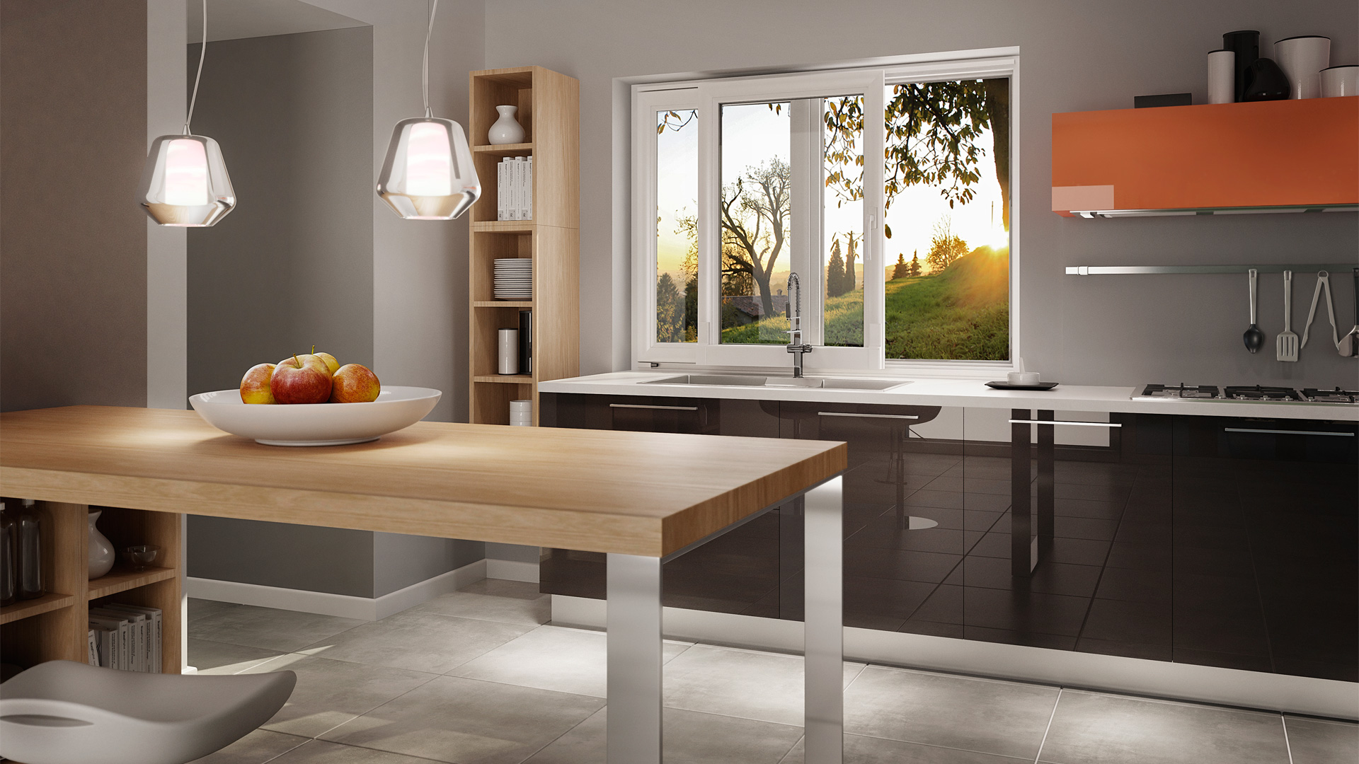 Arredare una piccola cucina consigli pratici blog oknoplast for Cucina moderna con finestra