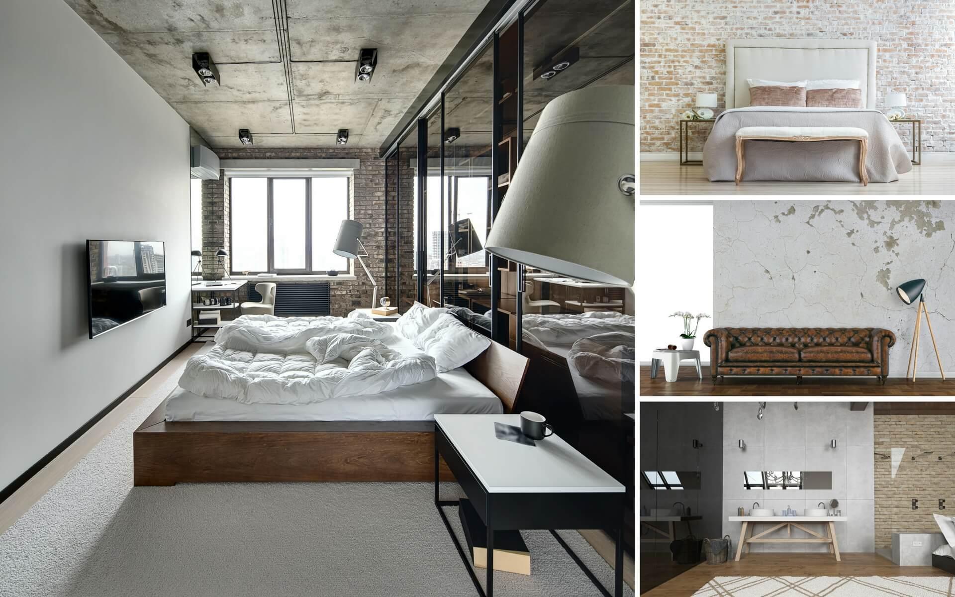 pareti e pavimenti stile industriale
