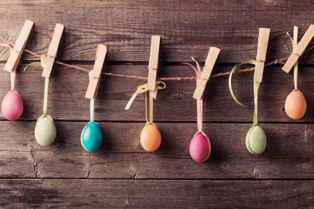 decorazioni con uova per pasqua
