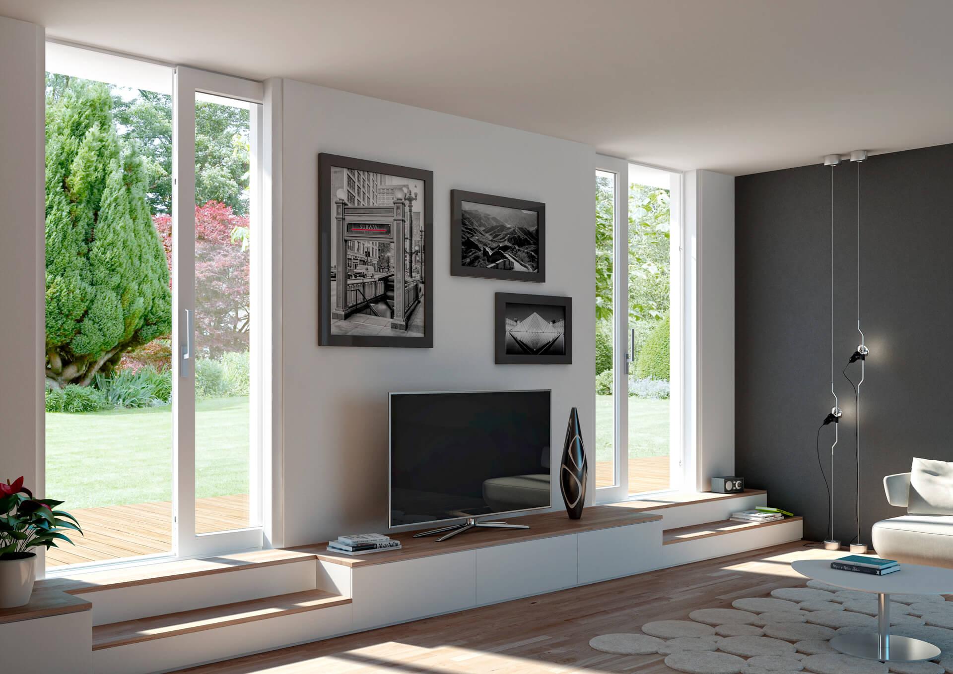 Aumentare la luminosit in casa con le finestre a scomparsa blog oknoplast - La casa con le finestre che ridono ...