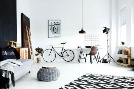 arredare la casa con una bicicletta