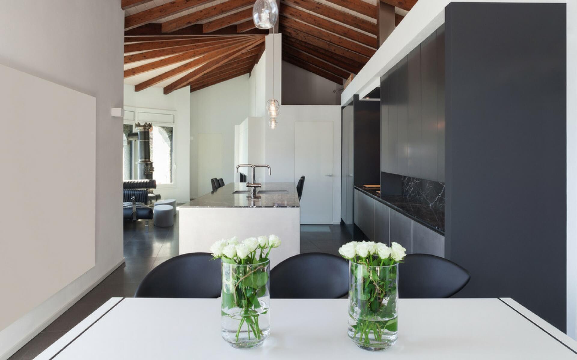 Un attico open space nelle alpi svizzere blog oknoplast - Open space casa ...