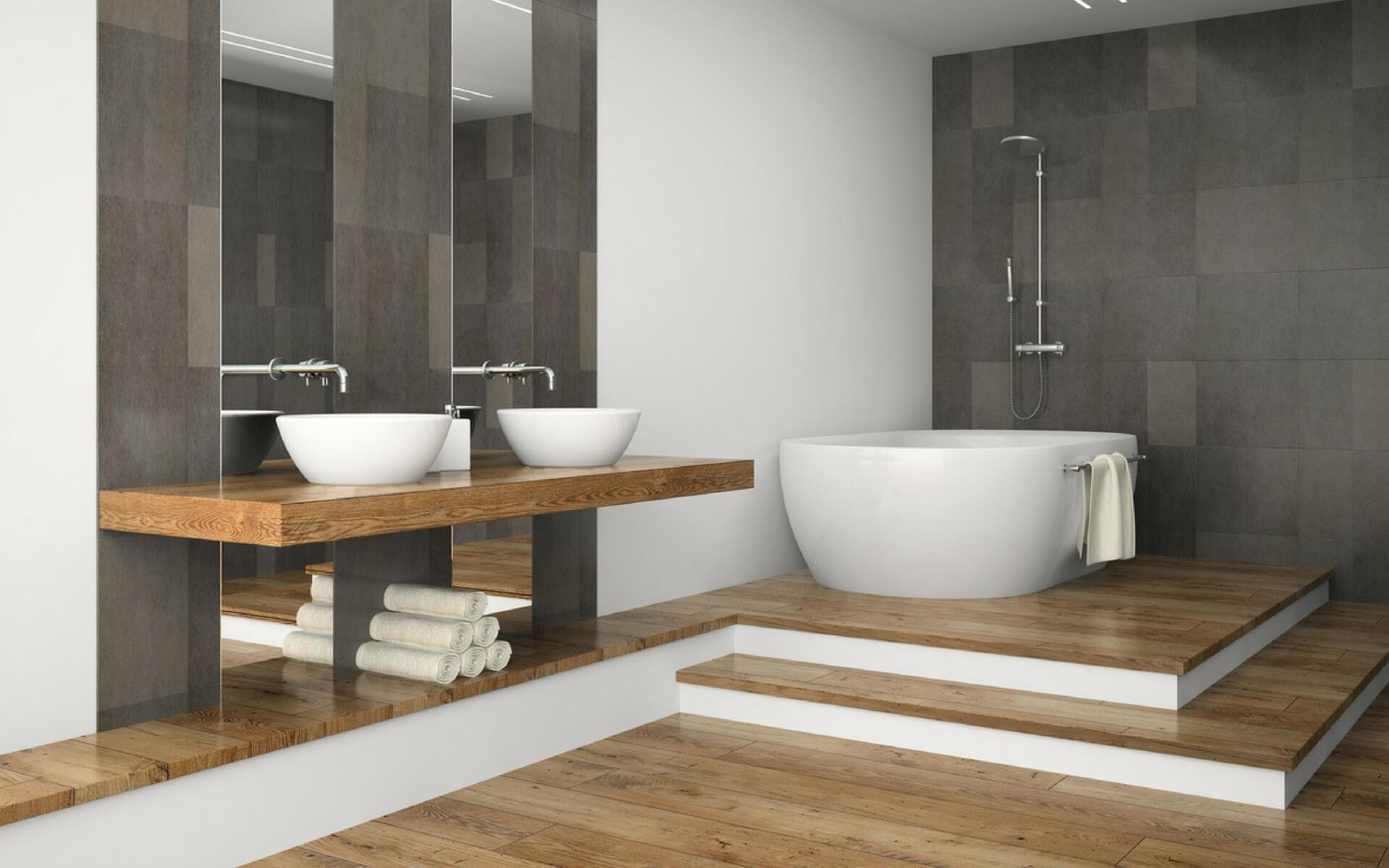 Come arredare un bagno di lusso seguendo le ultime - Legno per bagno ...