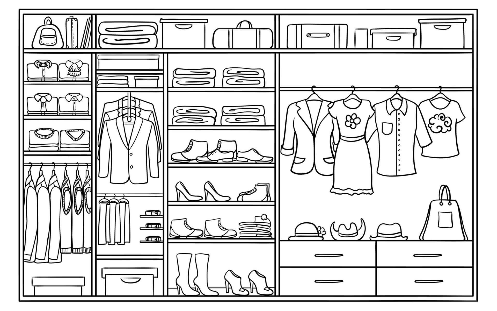Come ricavare e organizzare una cabina armadio in casa | Blog Oknoplast