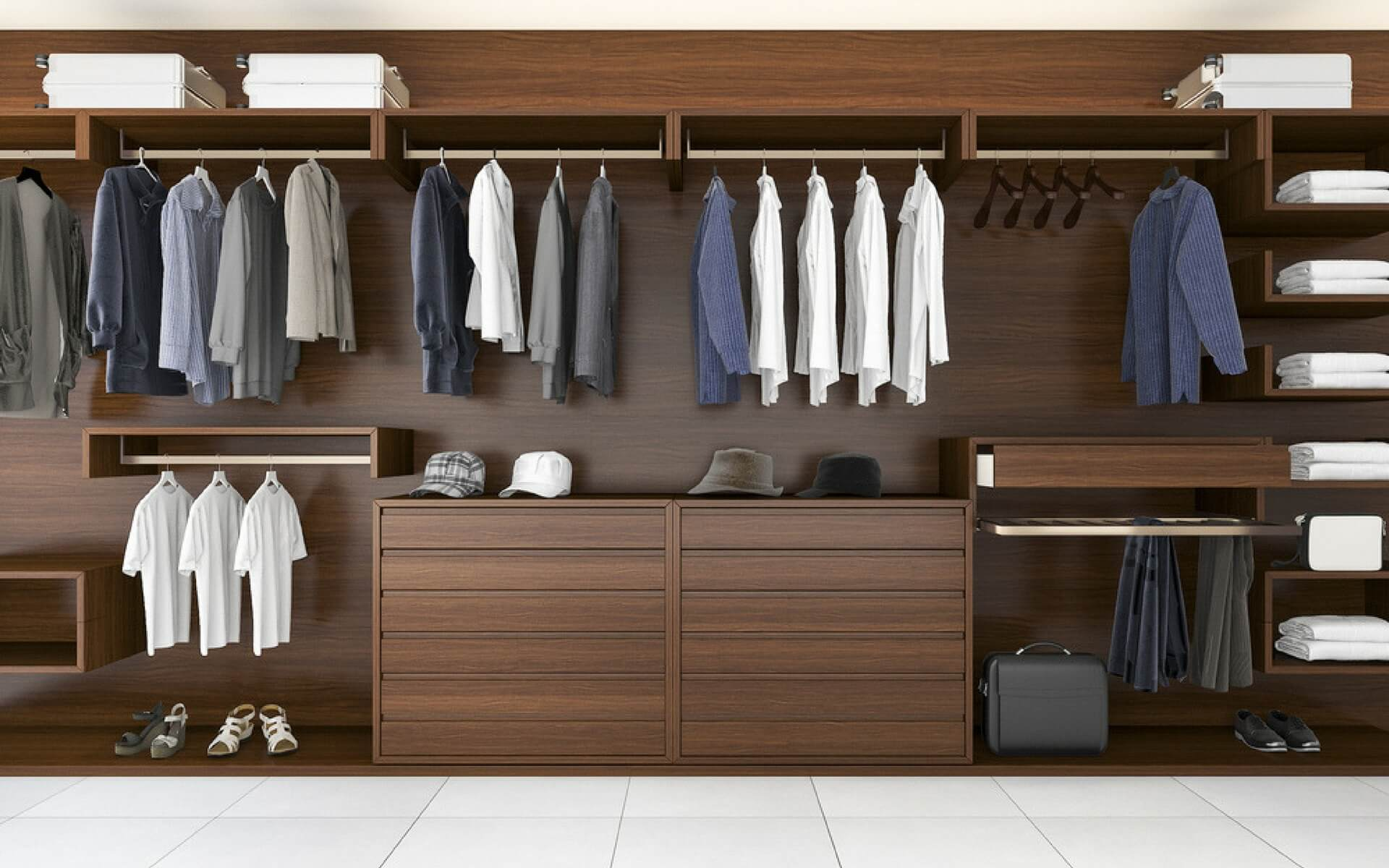 Come ricavare e organizzare una cabina armadio in casa - Cabina armadio con finestra ...