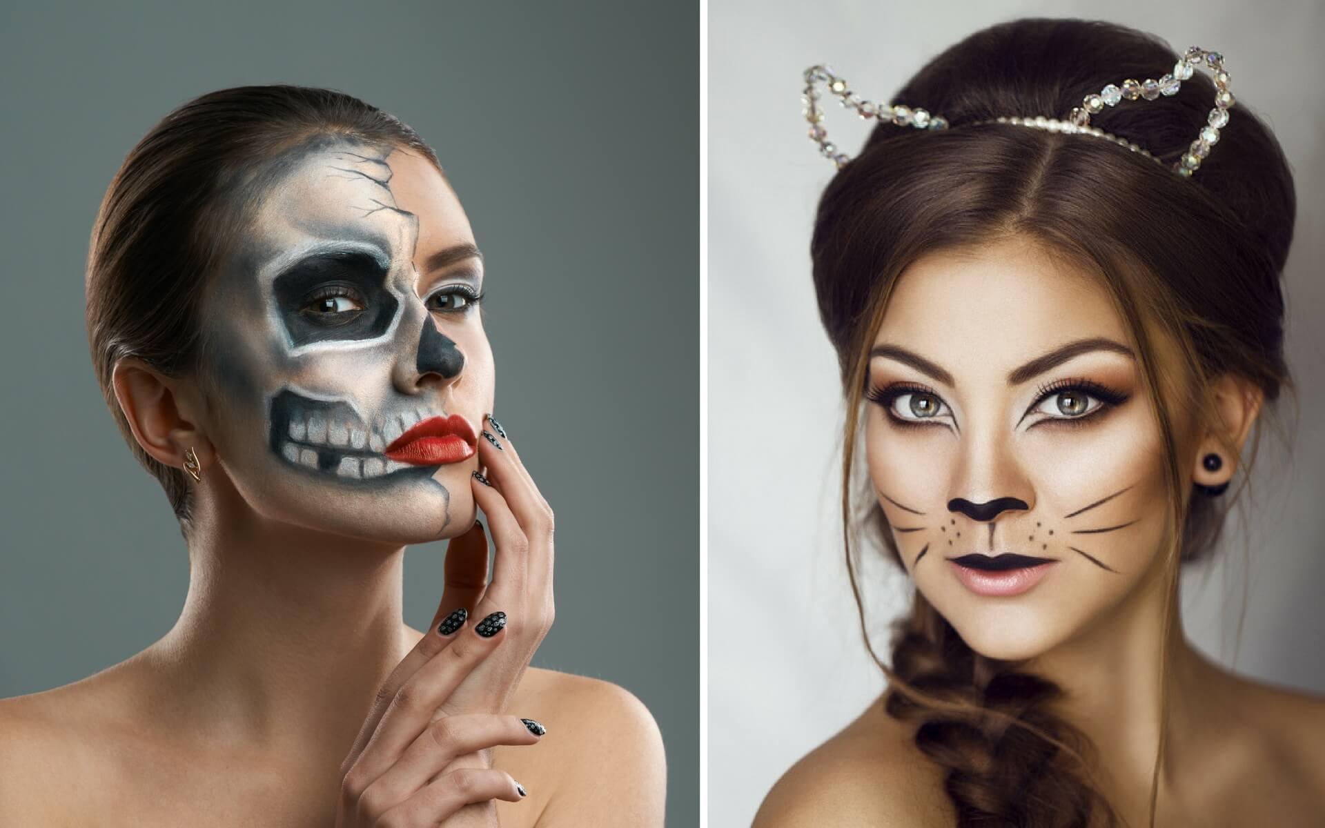 Due proposte di trucco affascinante per Halloween