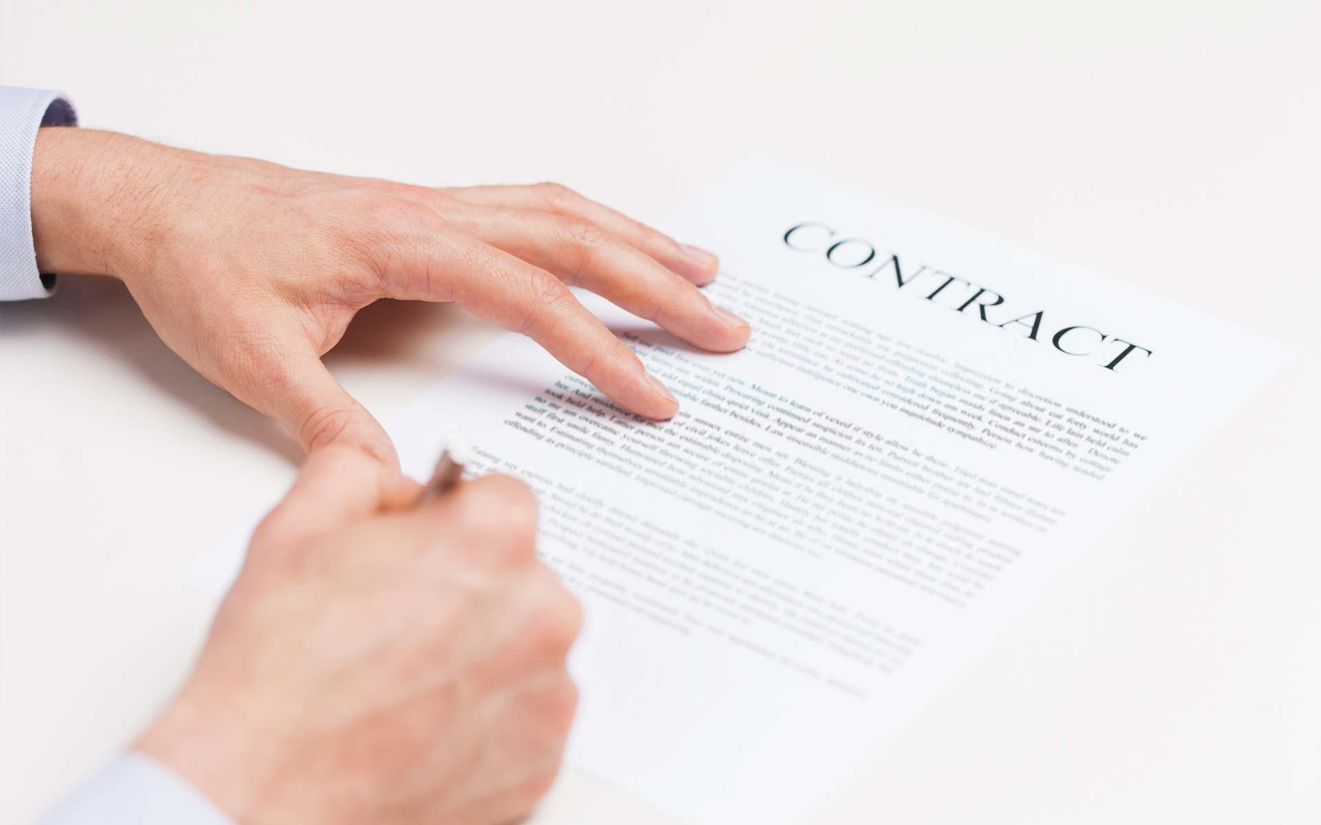 clausule da inserire nel contratto stipulato con l'impresa di ristrutturazione