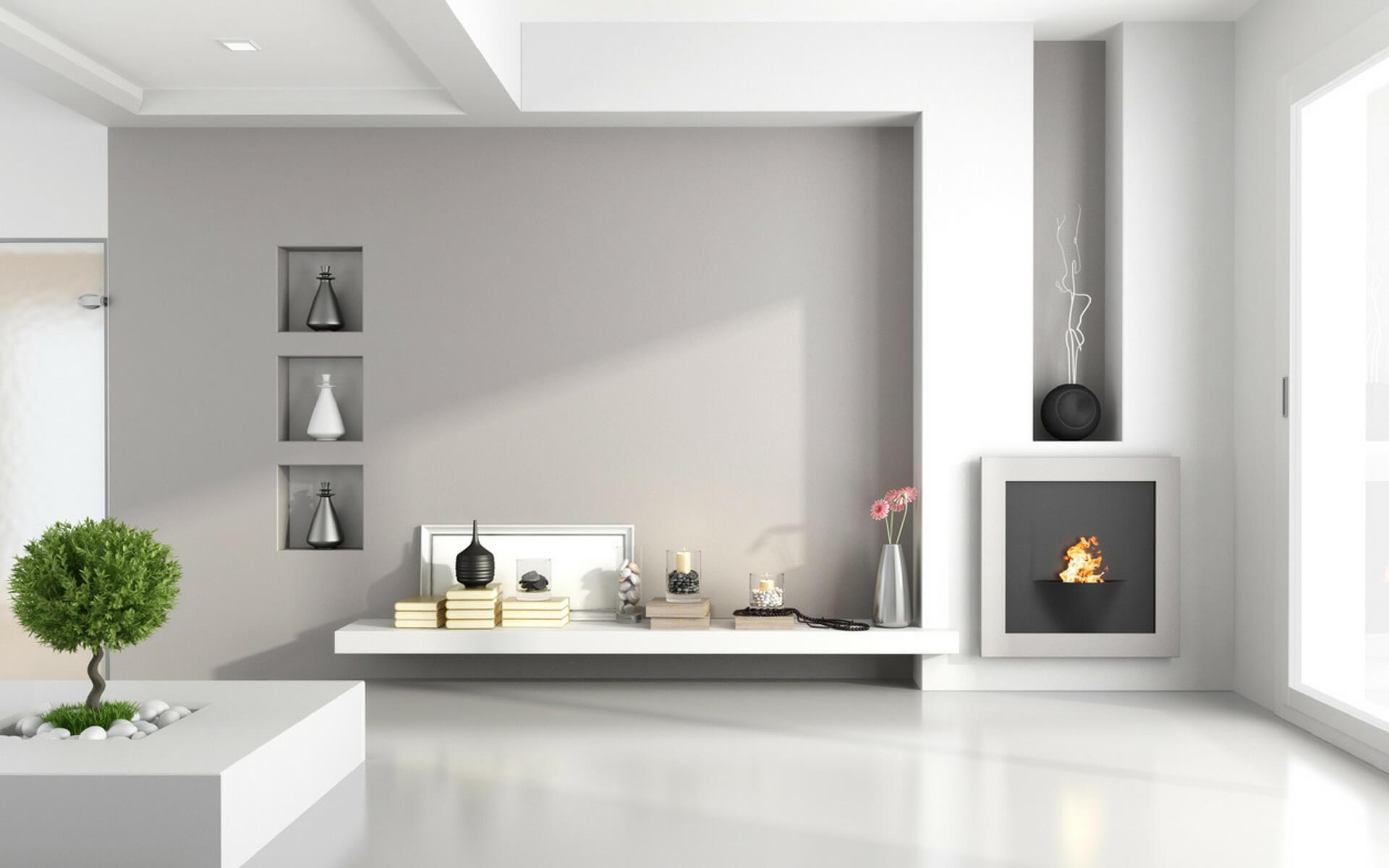 Stunning caminetti in cartongesso pareti attrezzate in for Pareti attrezzate in cartongesso foto
