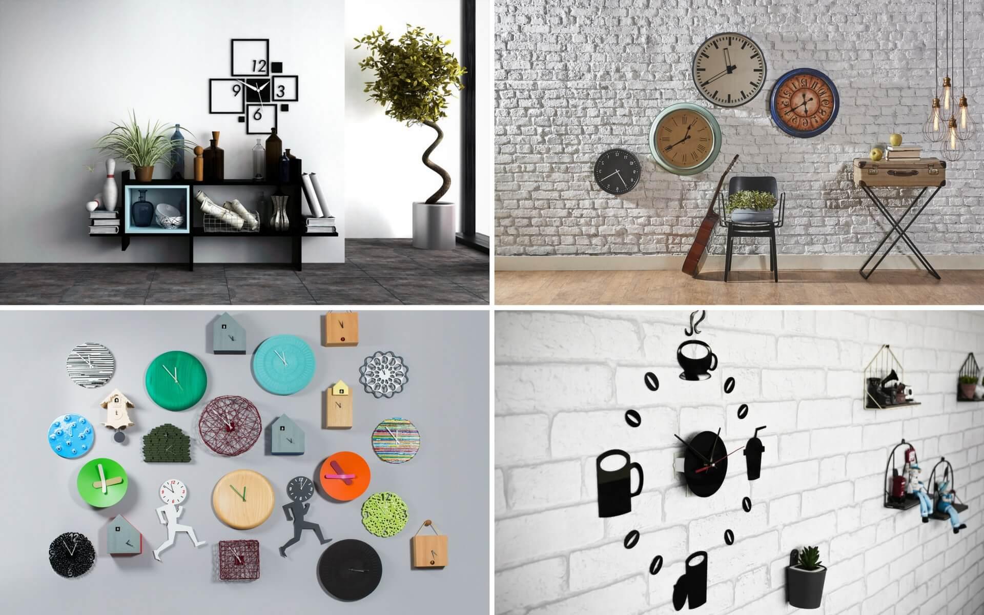 Diversi modi per usare gli orologi come decorazione da parete