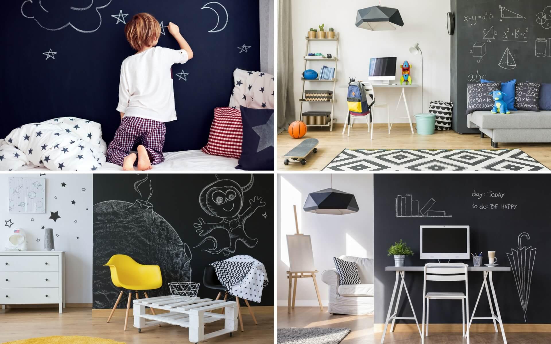 Idee Pittura Cameretta Bambina decorare le pareti con vernice lavagna | blog oknoplast