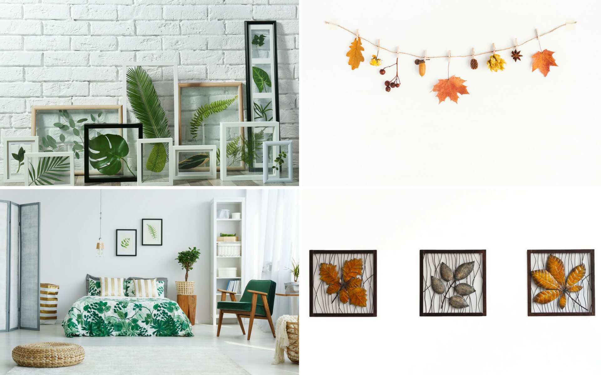 Consigli pratici per decorare le pareti di casa utilizzando semplici foglie