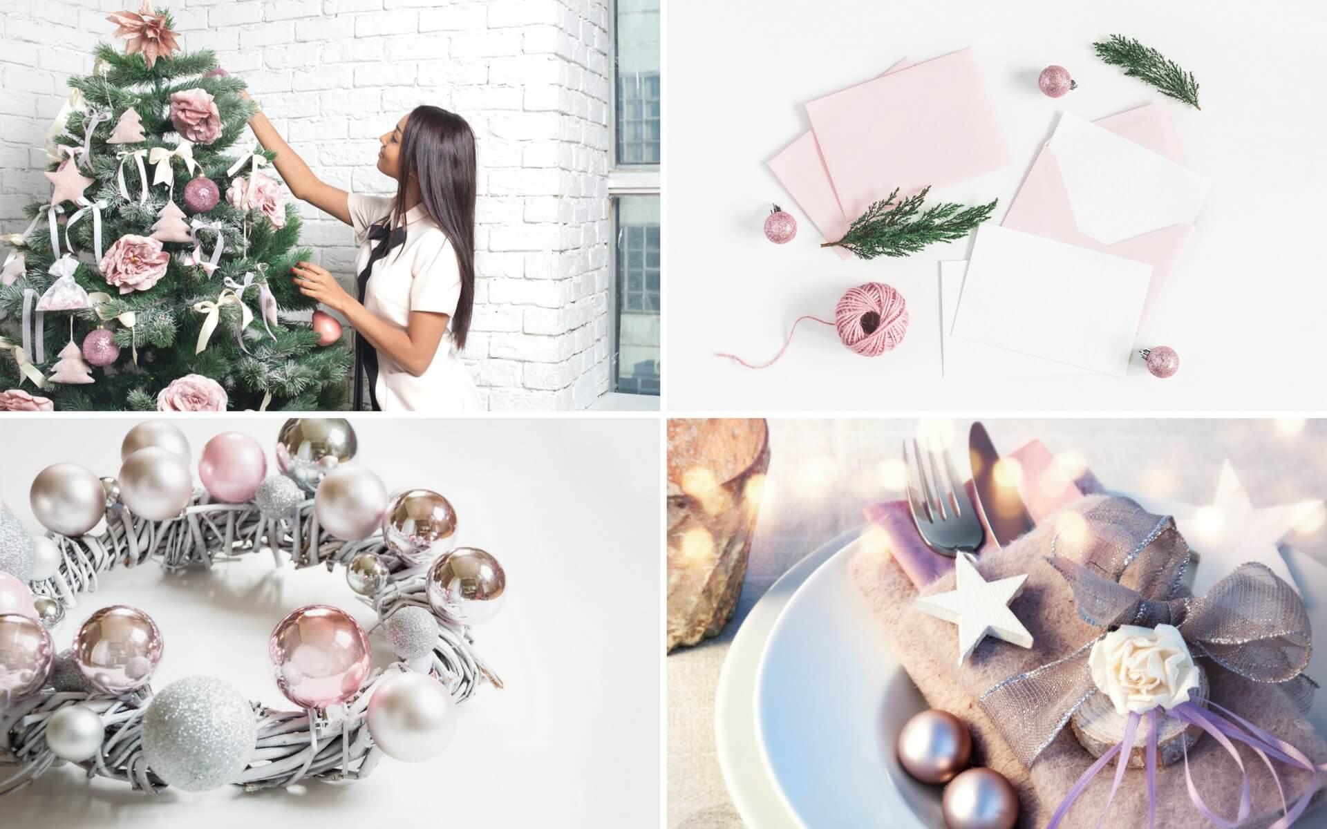 Consigli su come addobbare con il rosa la casa per Natale