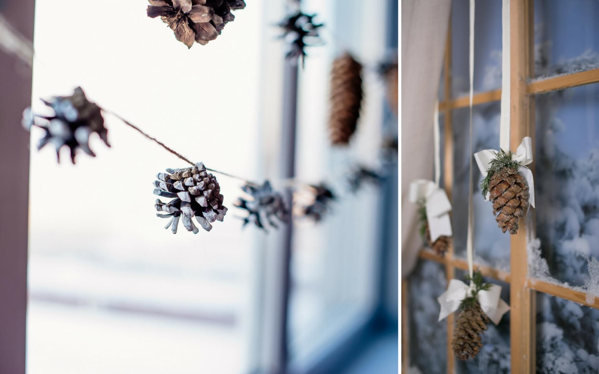 Decorazioni natalizie per porte e finestre blog oknoplast - Decorazioni natalizie pigne ...