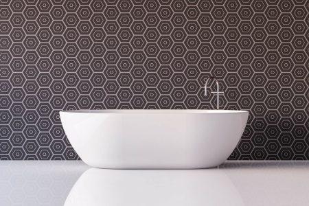 Carta da parati di design per decorare il bagno