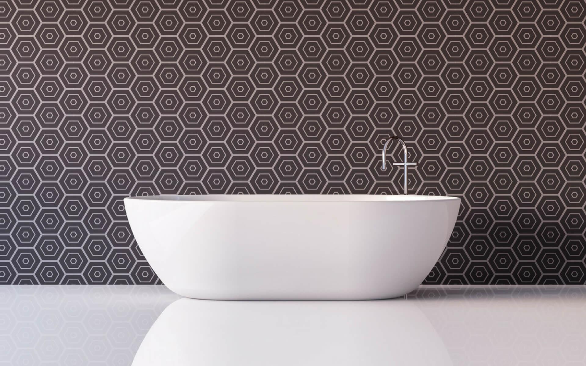 Disegni geometrici per pareti con adesivi per piastrelle