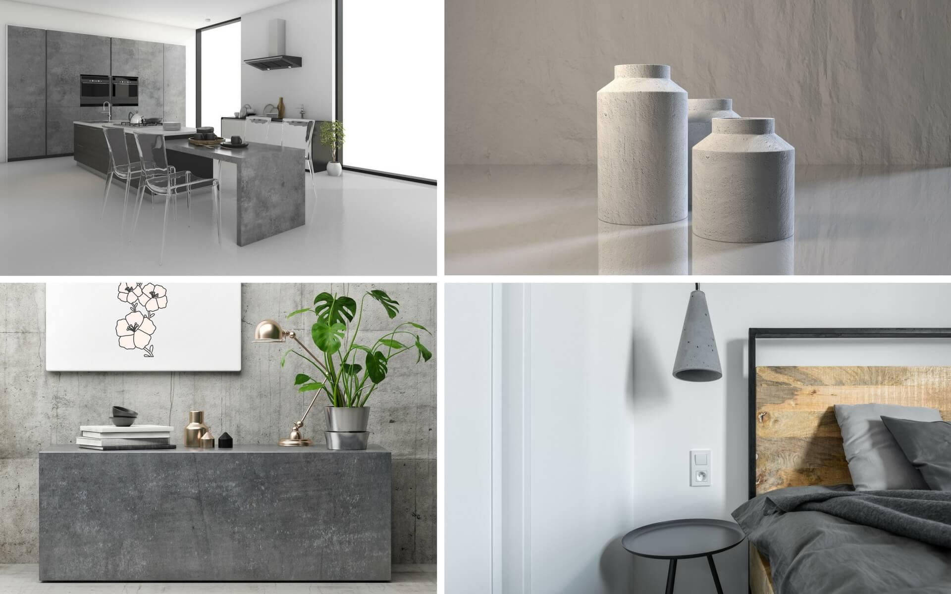 Il trend del momento è quello di arredare cosa con oggetti o decorazioni realizzate con il cemento