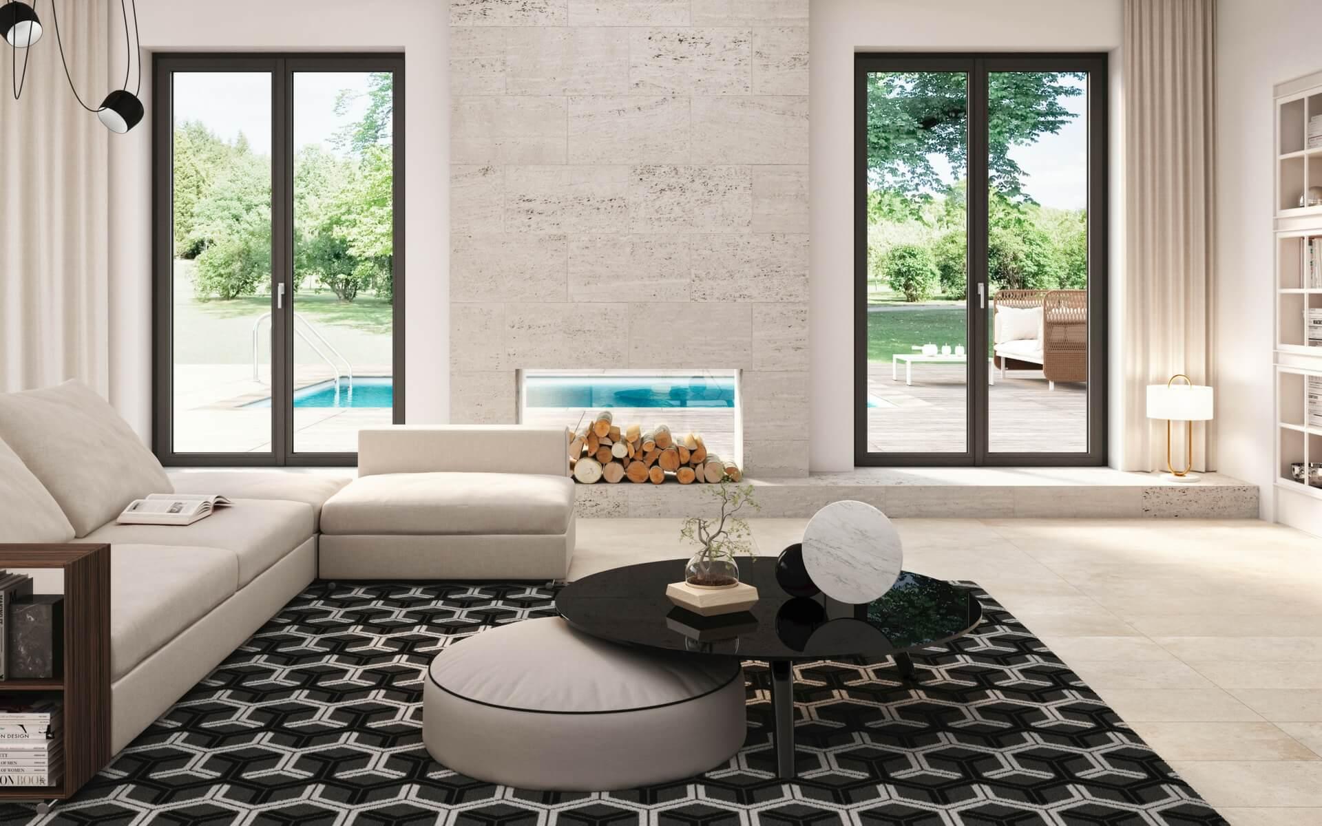 l'ultima tendenza in fatto di arredamento è realizzare le finestre di casa in colore nero