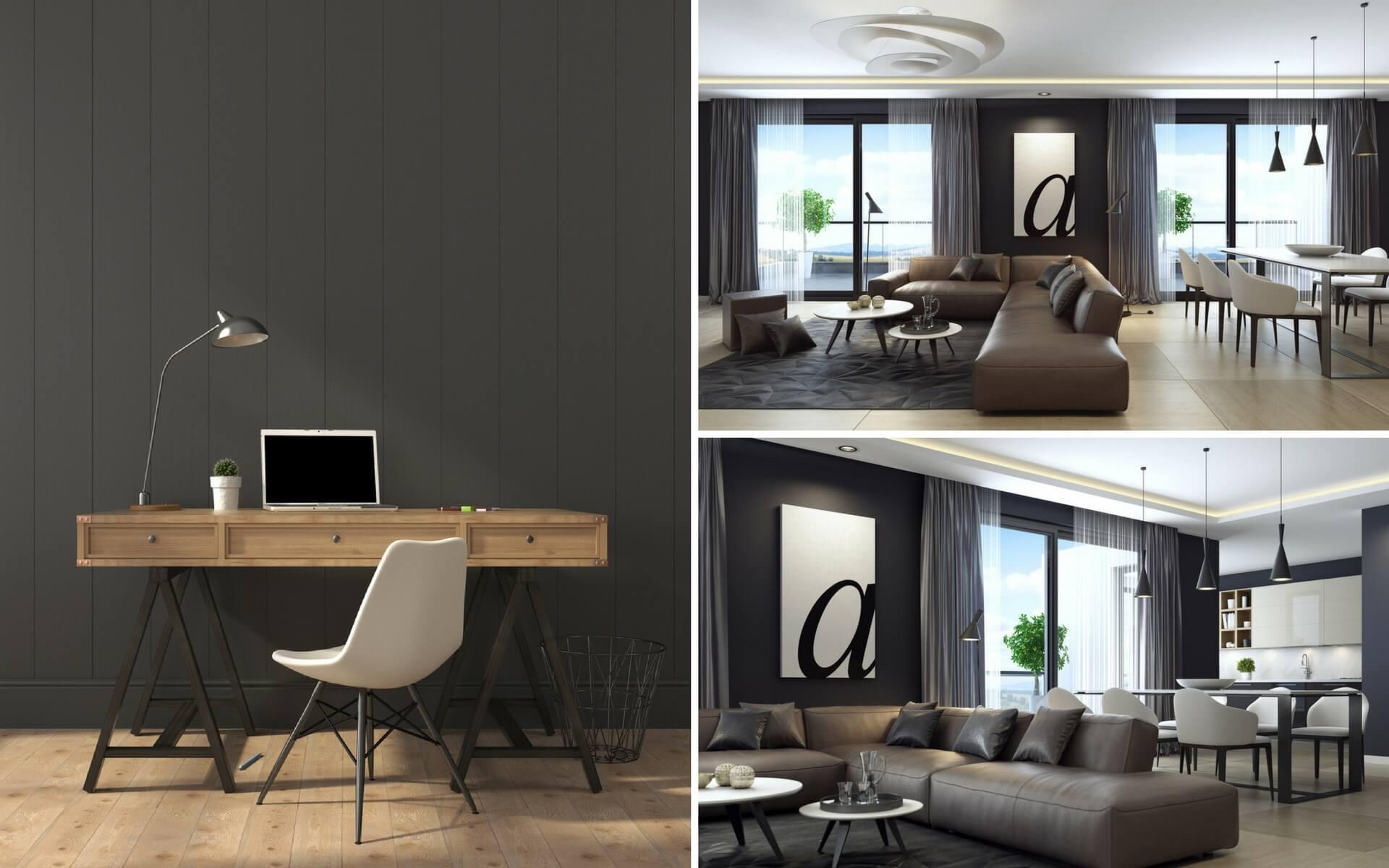 Come usare il colore nero per arredare casa blog oknoplast - App per colorare pareti casa ...