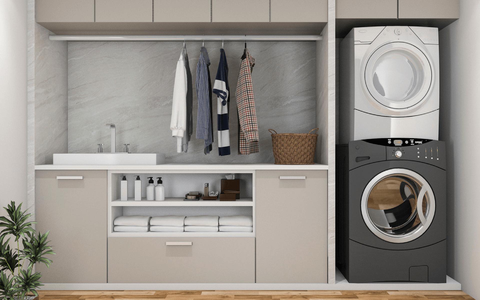 Consigli pratici e utili per disporre in maniera funzionale tutti gli arredi dentro il locale lavanderia di casa