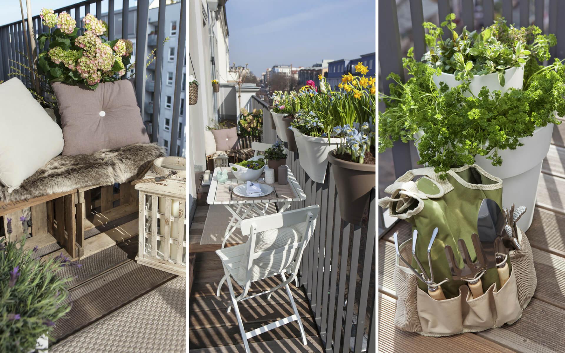 Suggerimenti e consigli per dividere in modo funzionale e pratico un balcone stretto e lungo