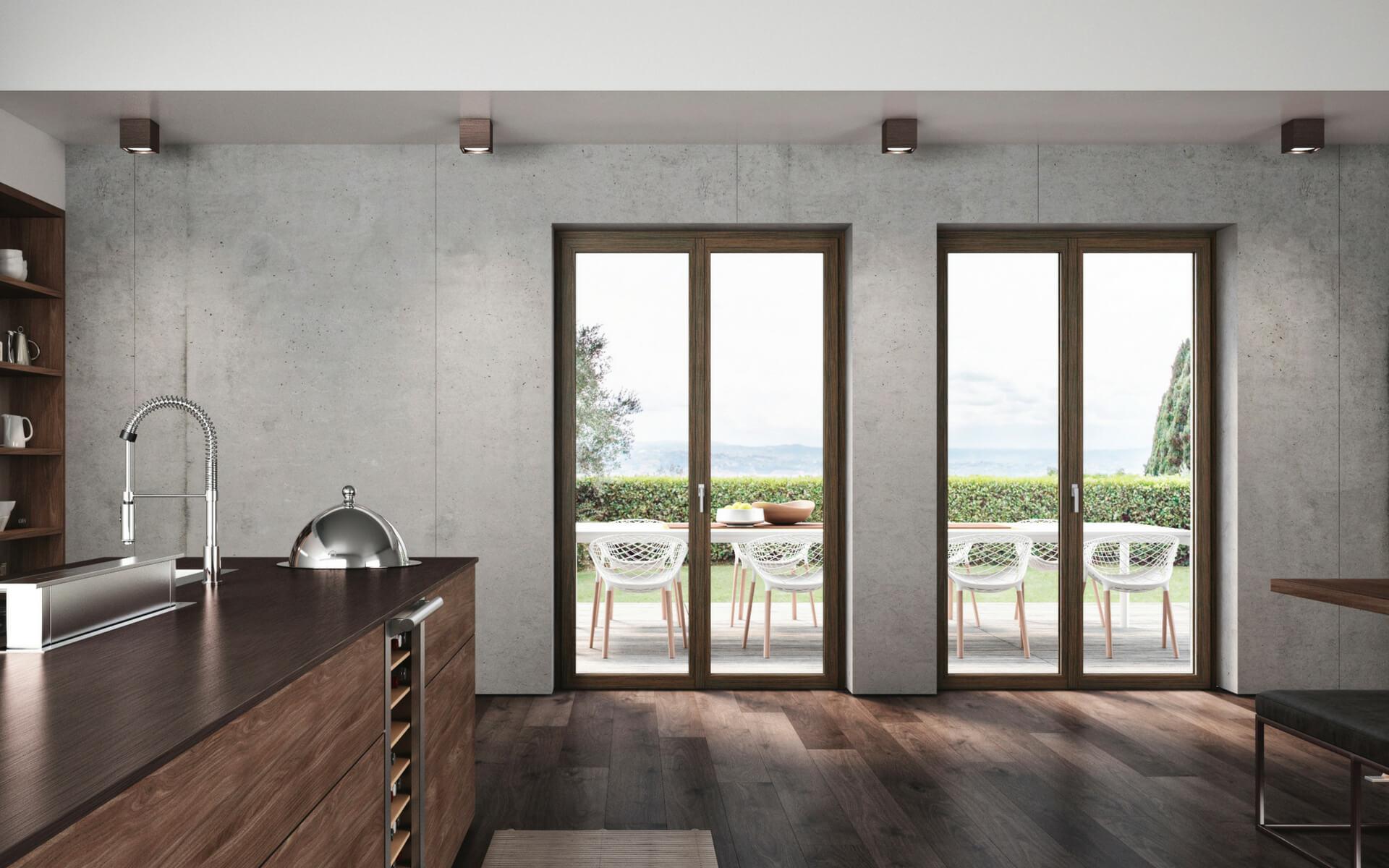 Le moderne finestre in pvc e legno rappresentano una novità assoluta e una soluzione innovativa grazie al mix di isolamento e design