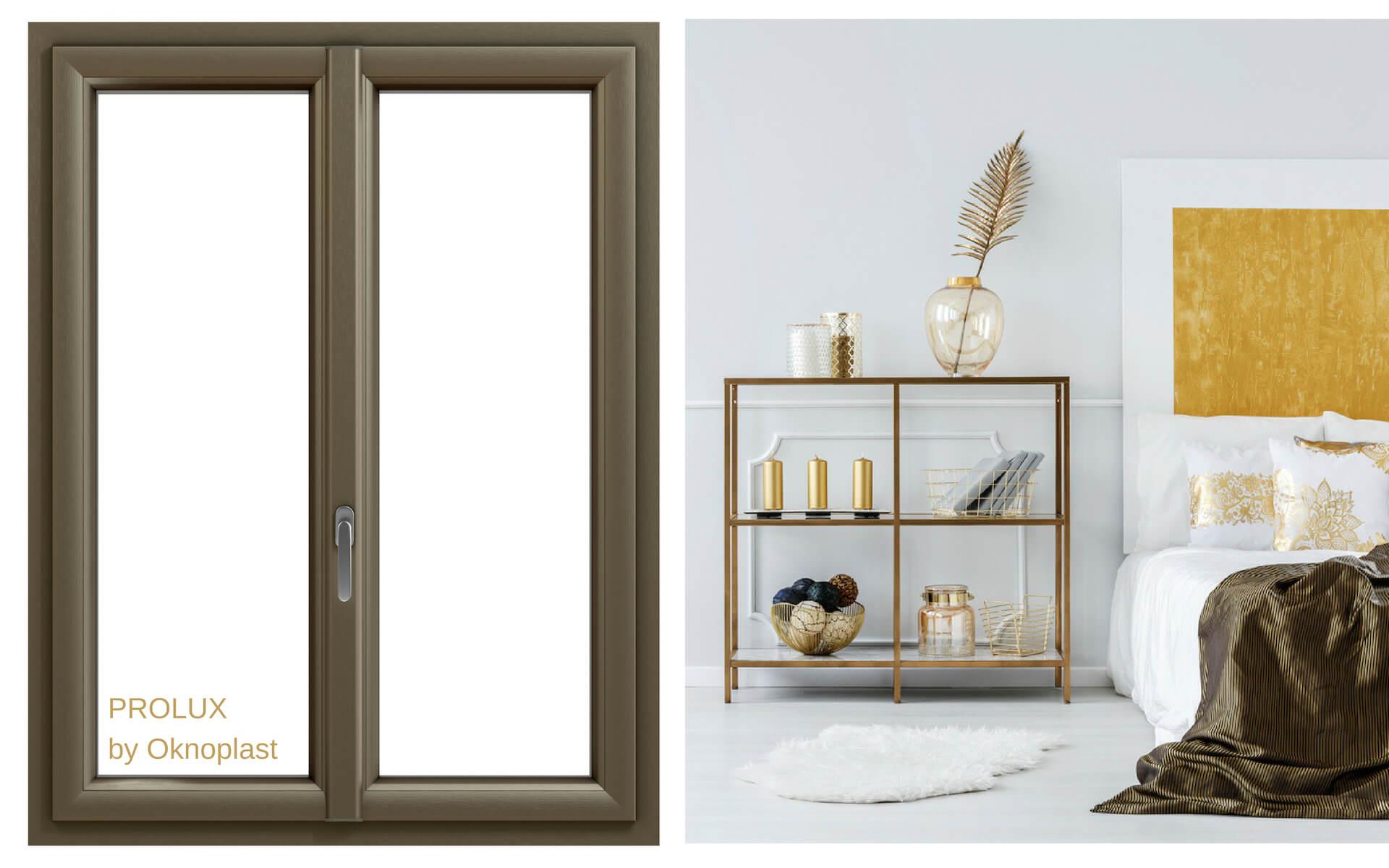 Suggerimenti per abbinare le finestre ad arredi e oggetti colore ottone