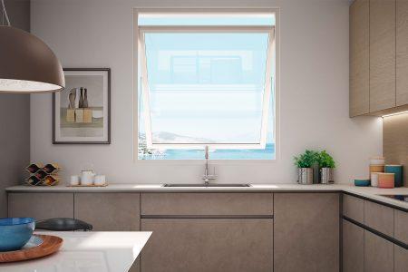 La finestra salvaspazio pratica e facile da pulire