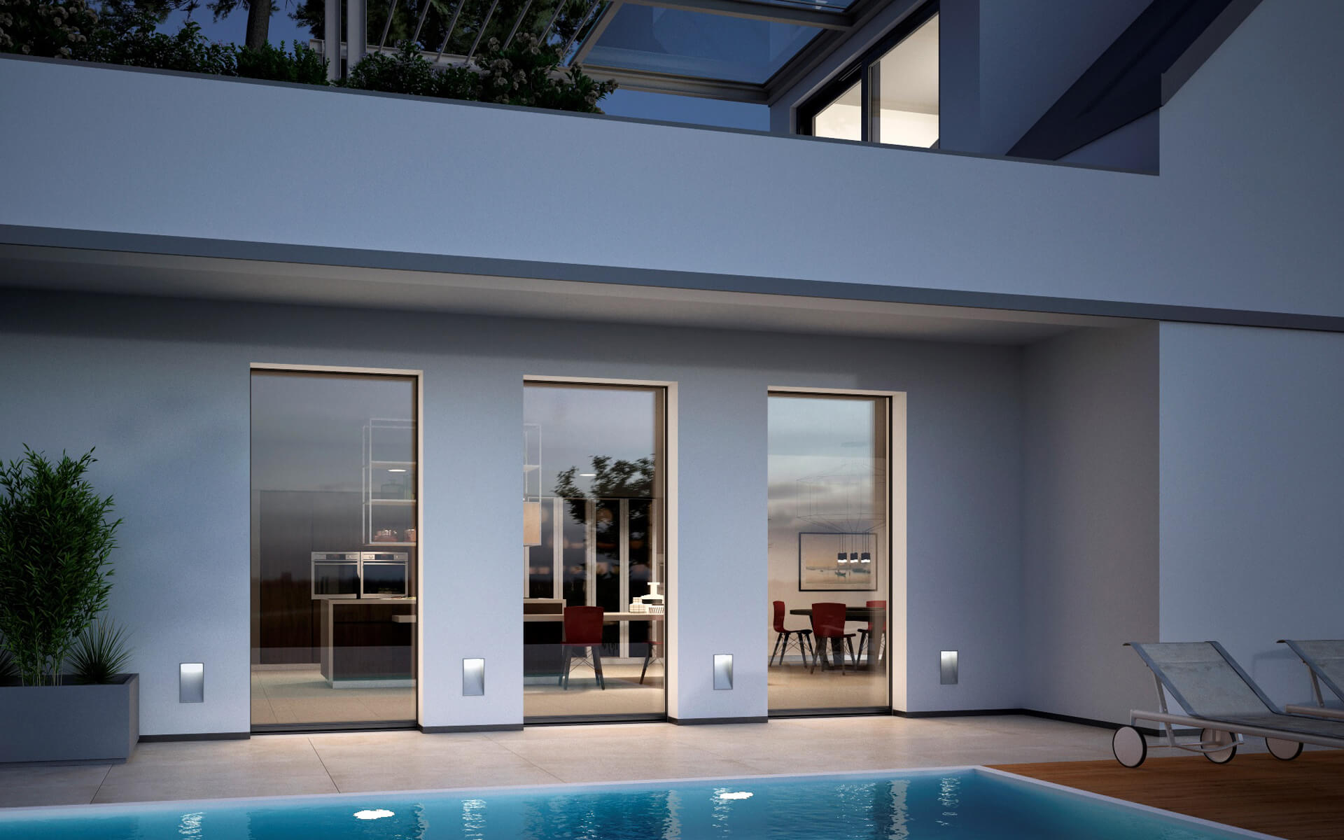 Con le finestre Prolux Vitro di Oknoplast dall'esterno non vedrai più l'anta ma un'unica grande superficie vetrata