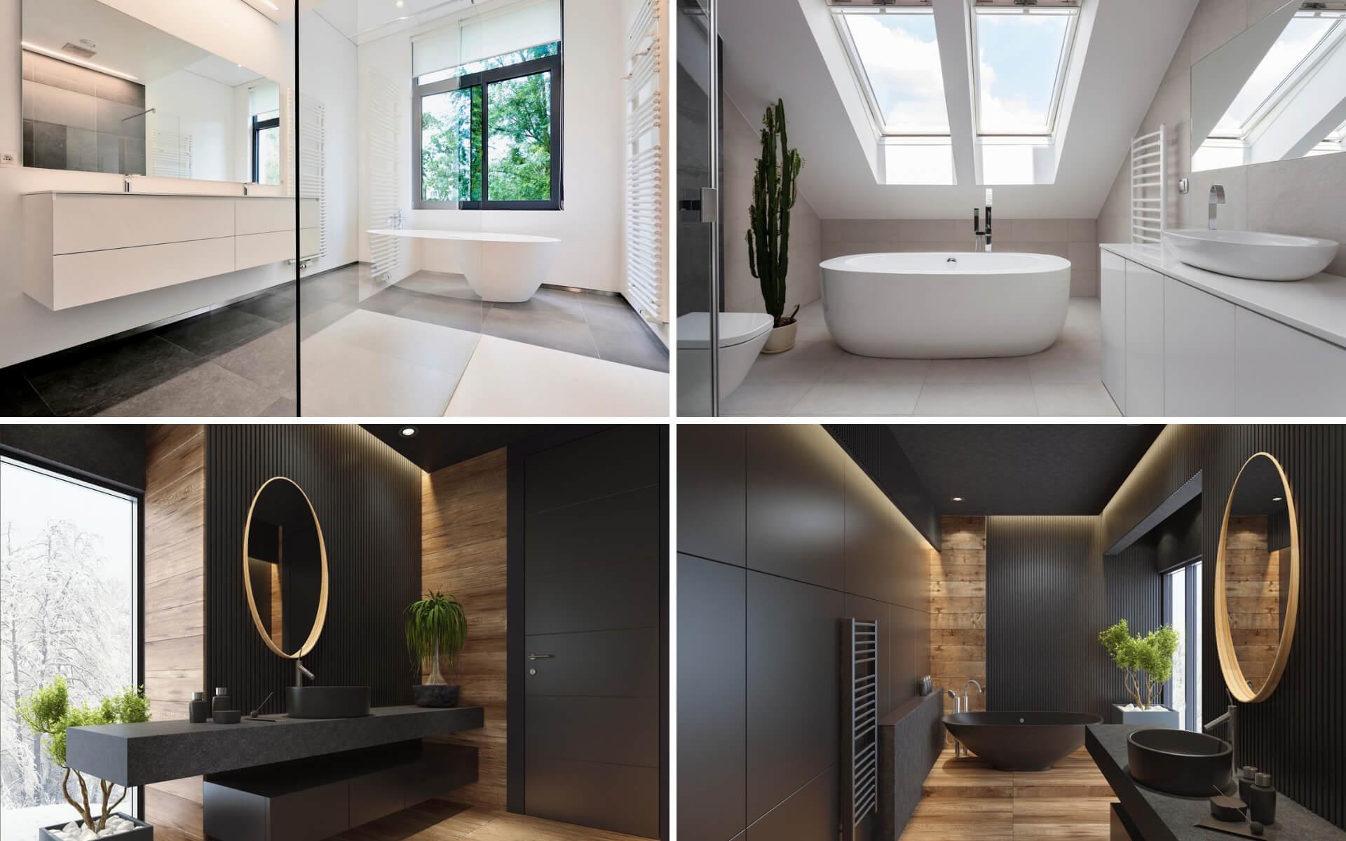 Esempi di come usare correttamente il colore nel bagno a seconda dello stile che si vuole dare