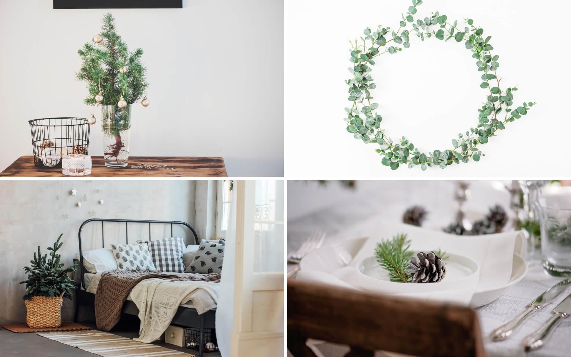 Suggerimenti per arredare la casa a Natale in stile minimal