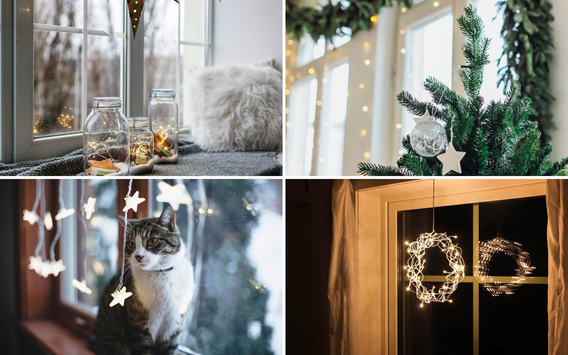 Suggerimenti e idee per decorare le finestre a Natale con luci e addobbi