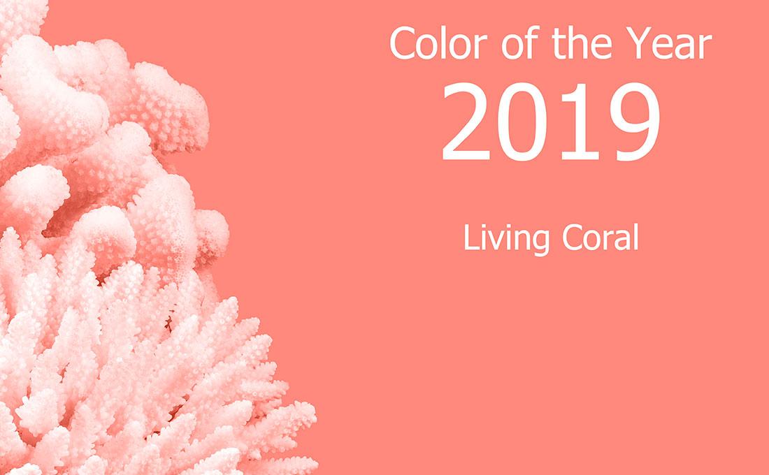 Color corallo Pantone 2019 interior design