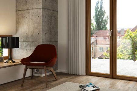 Porta finestra a risparmio energetico Oknoplast