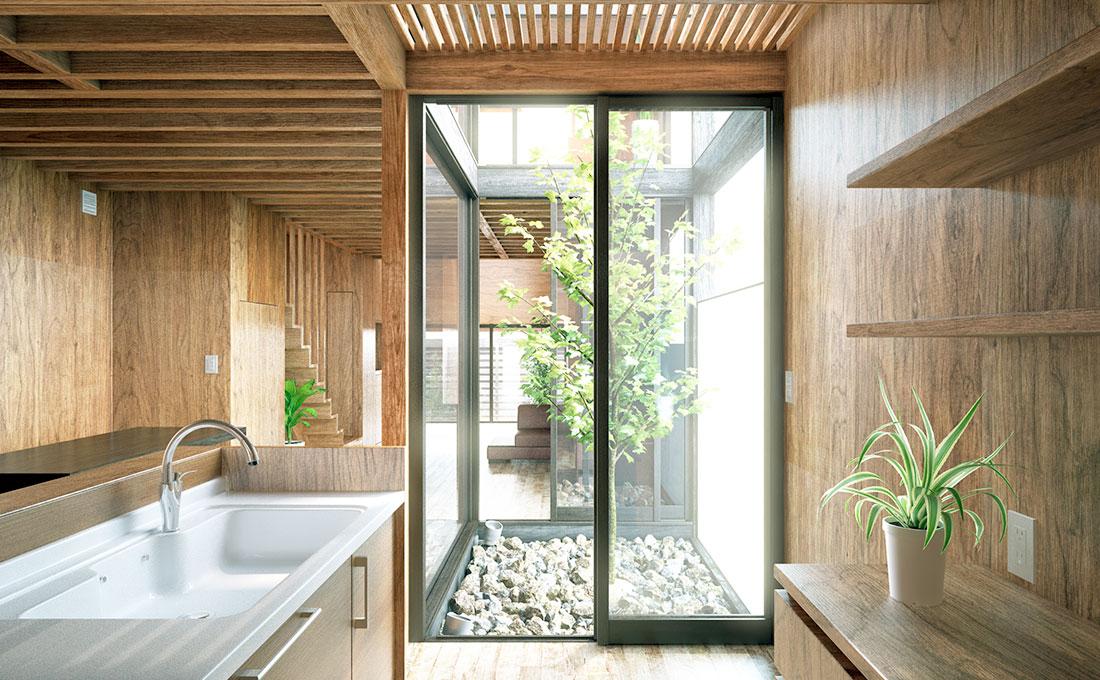 Case in legno con infissi in pvc