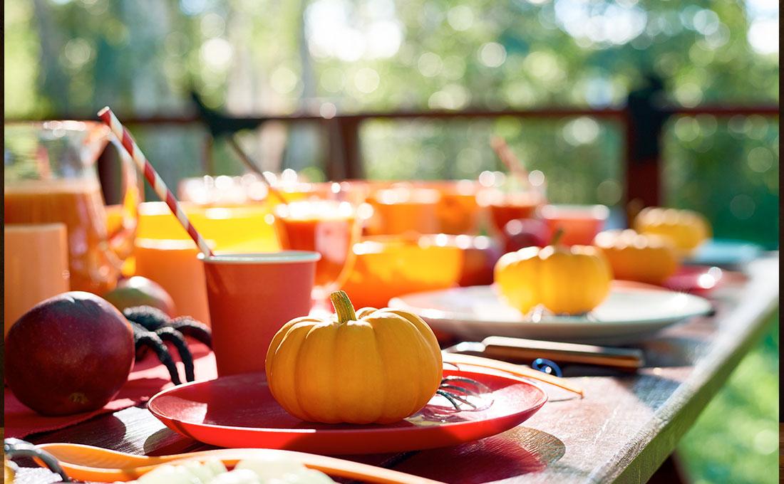 Decorare la tavola per Halloween