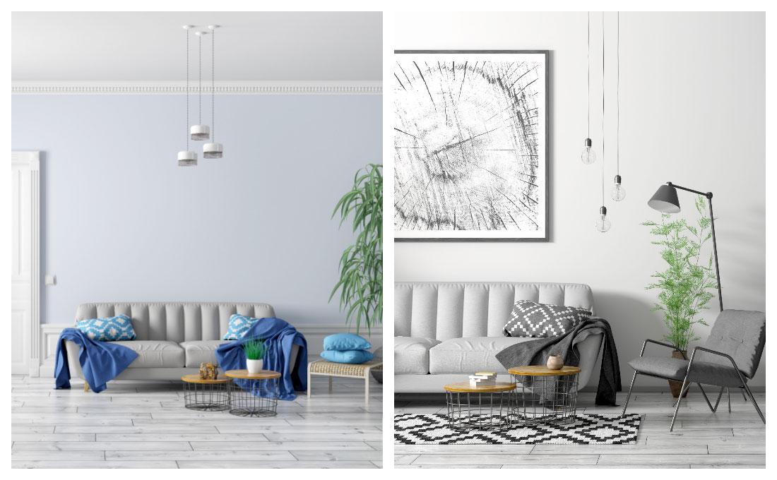 Abbinare colore delle pareti a superfici tendenti al grigio