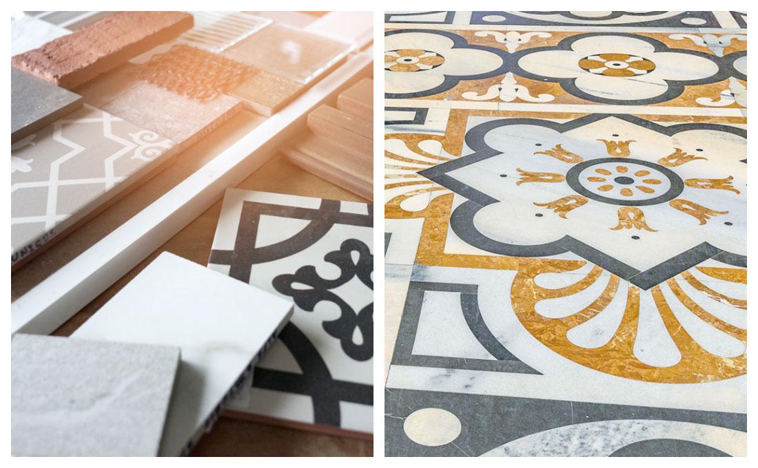 Arredare con i pavimenti in ceramica o colorati