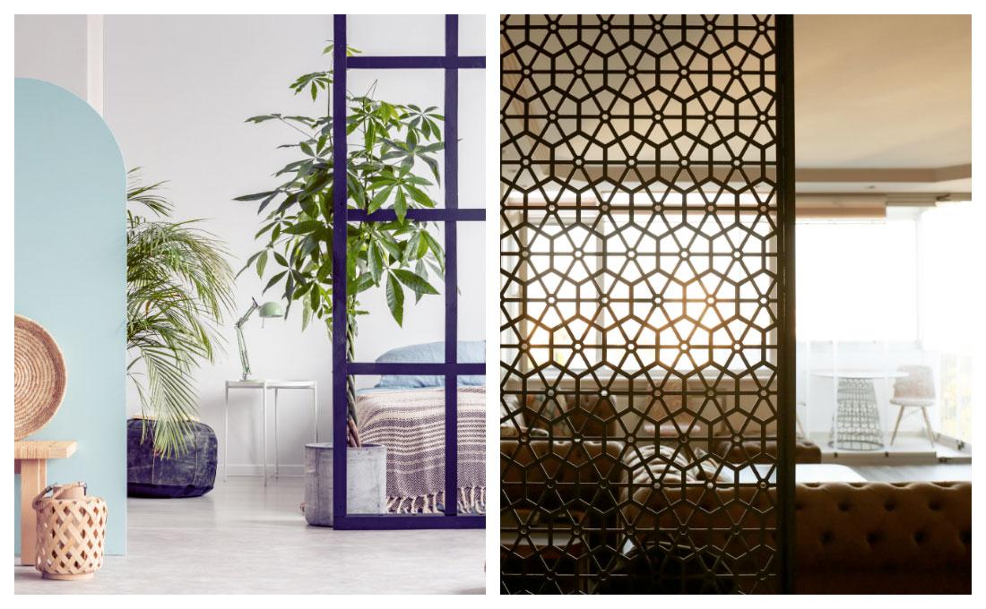 Separare ambienti open space con stile