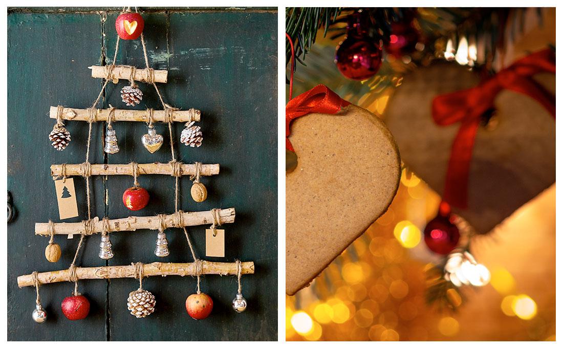 Decorazioni natalizie biscotti e legno