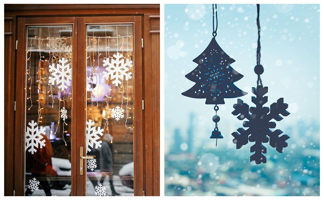 Decorazioni natalizie per le finestre