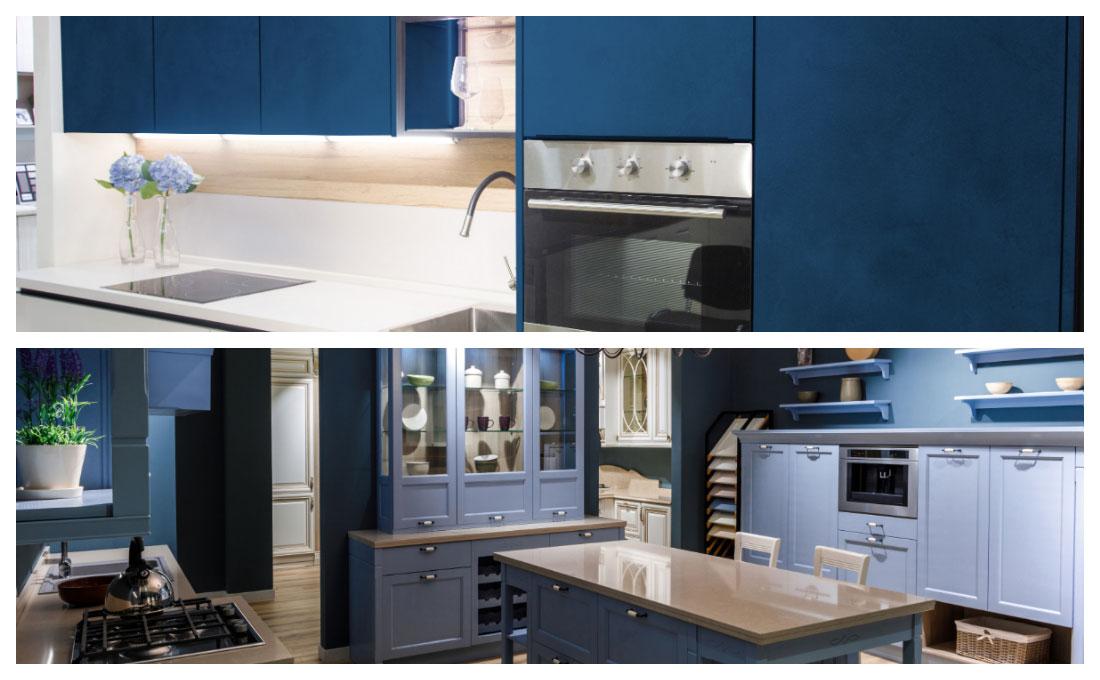 Hai mai pensato di arredare la cucina con il blu color of the year 2020