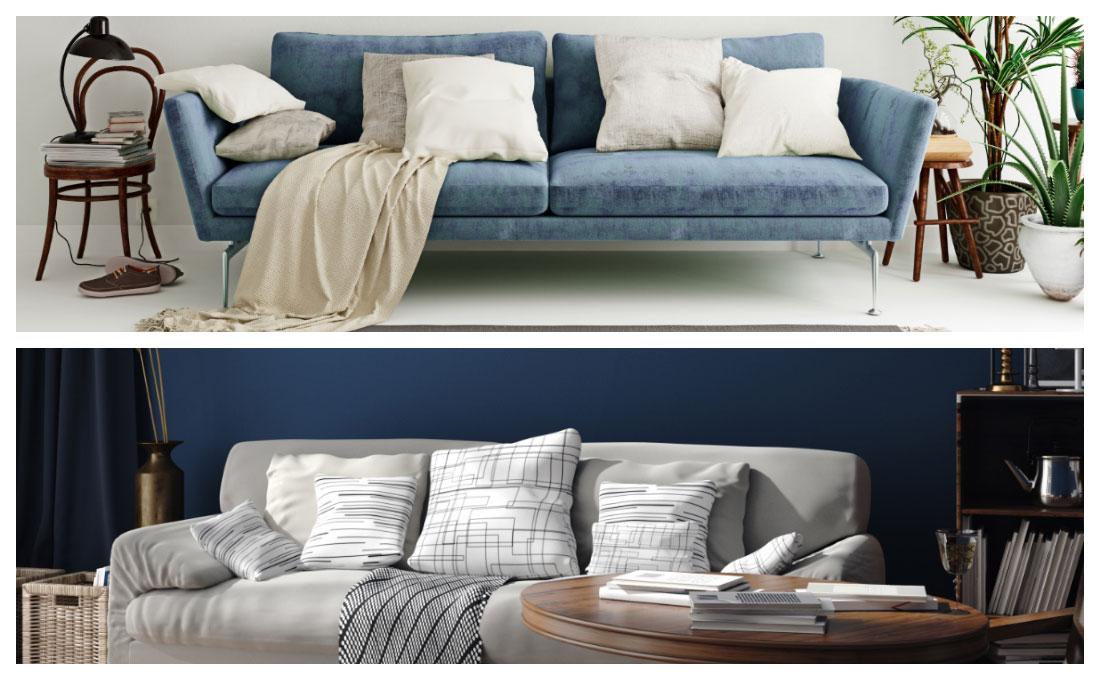 Come arredare il salotto con il blu  color of the year 2020