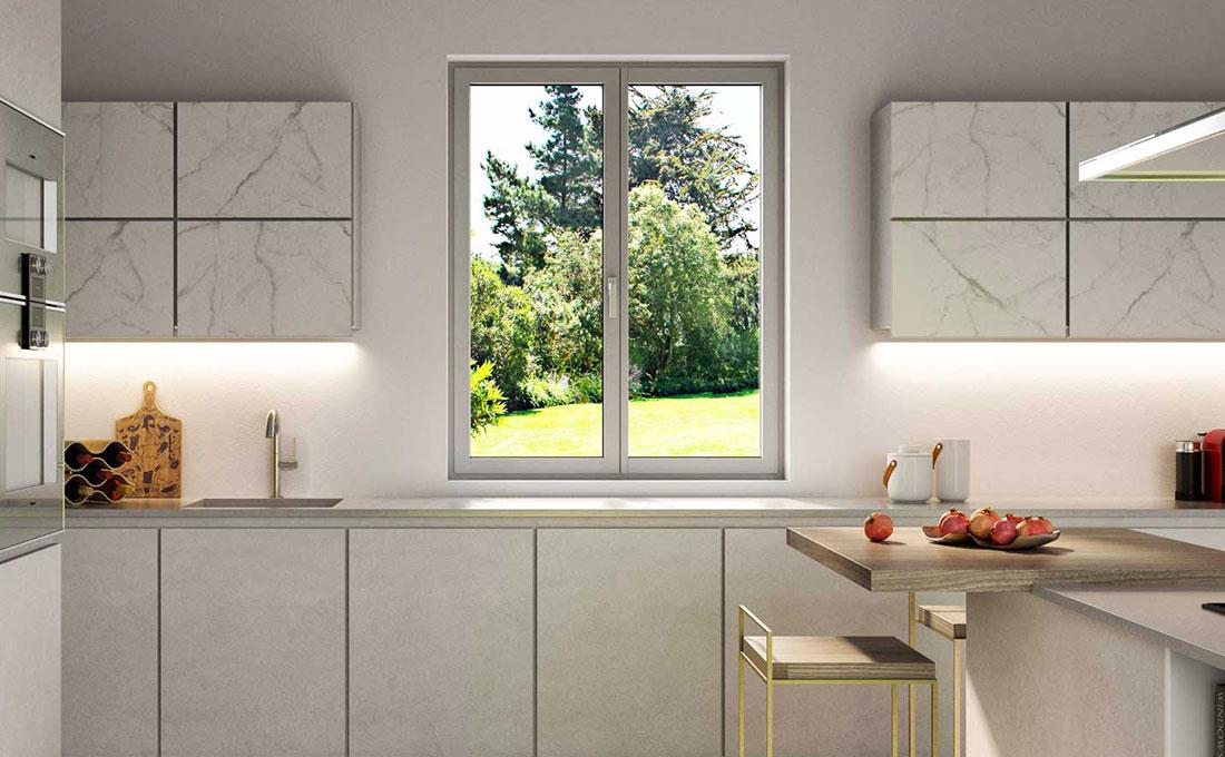 Cucina con finestra Futural OC di Oknoplast