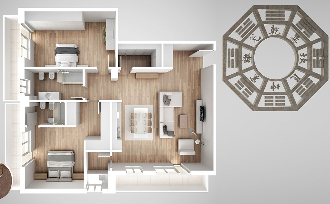 La disposizione delle stanze ideale secondo il feng shui