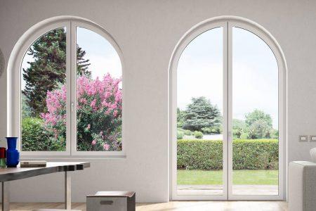 infissi in pvc: sono dannosi - finestra ad arco Oknoplast