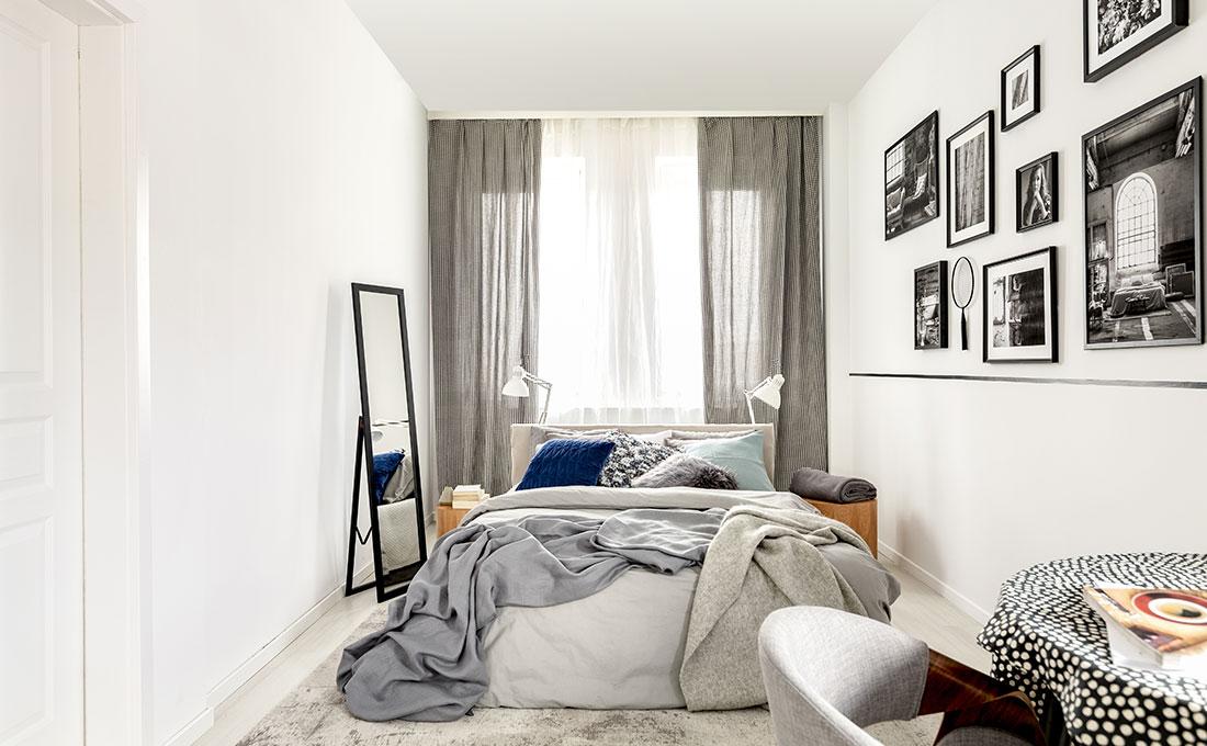 15 consigli per arredare una camera lunga e stretta
