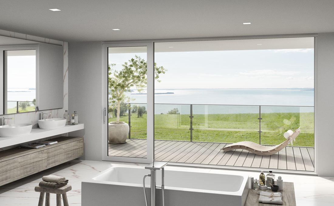 Finestre scorrevoli Aluslide Lux di Oknoplast: più luce e più spazio in casa