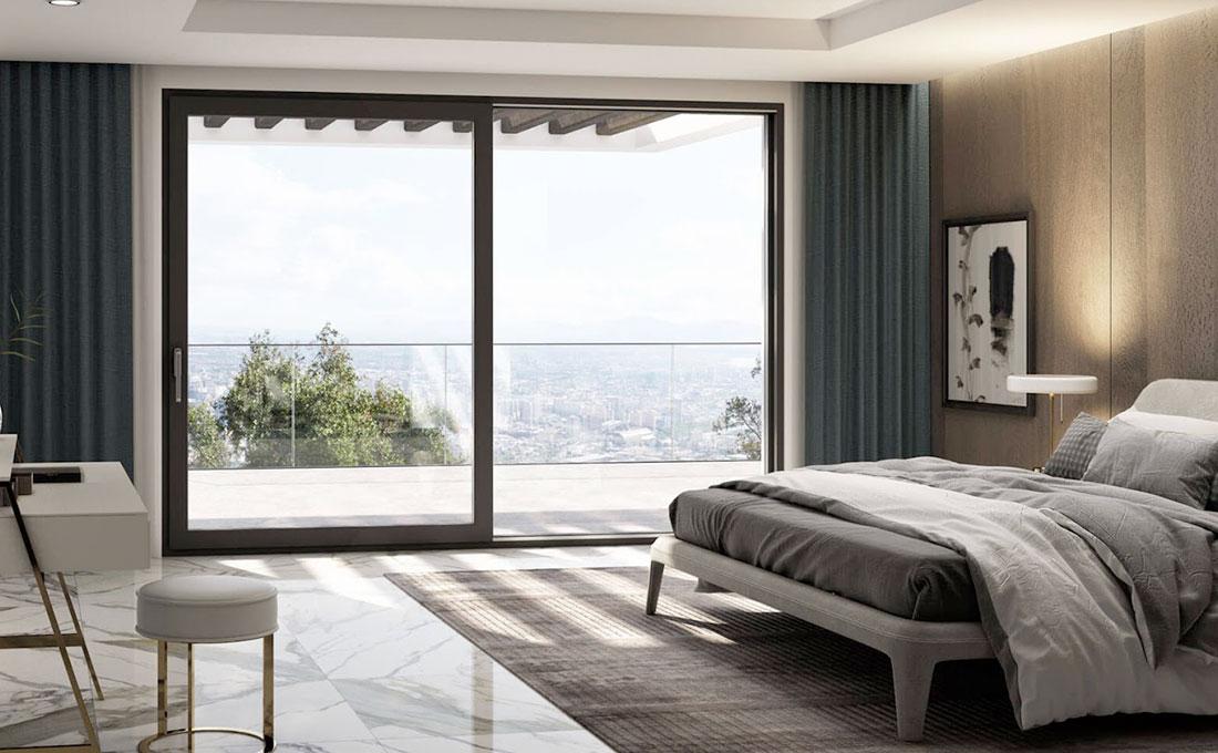 Come valorizzare le stanza con porte finestre scorrevoli Oknopalst